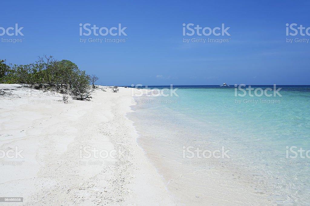 white sand blue sea tropical beach background royalty-free stock photo