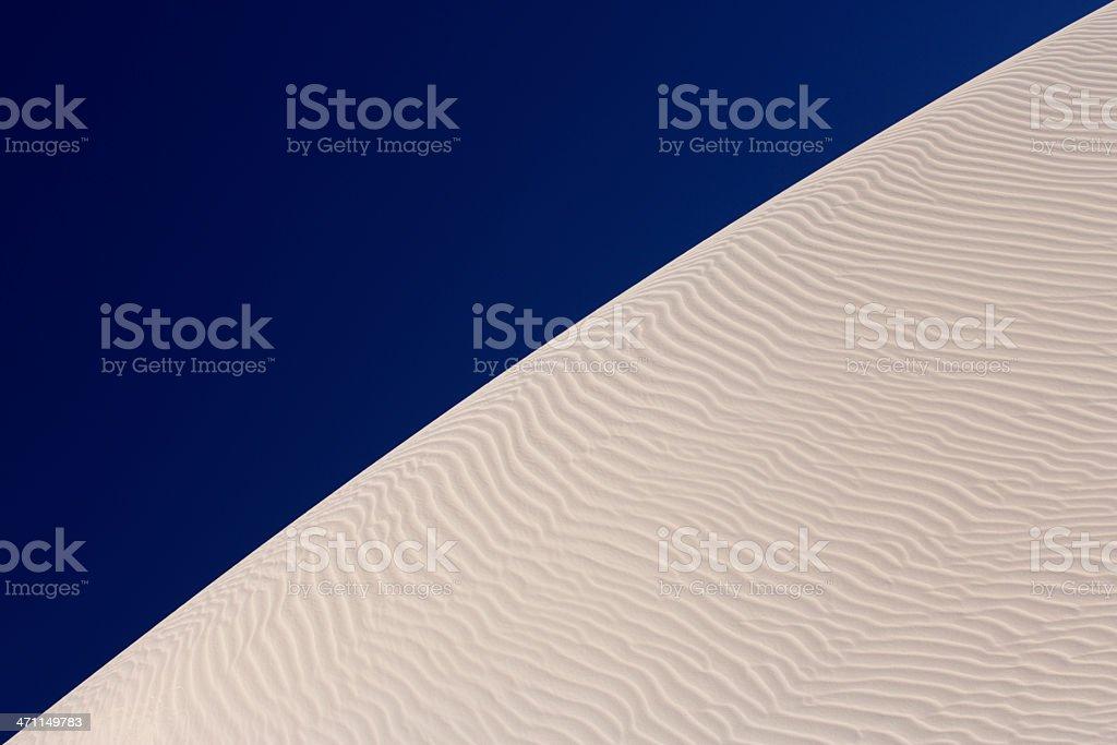 White sand dune, blue sky royalty-free stock photo
