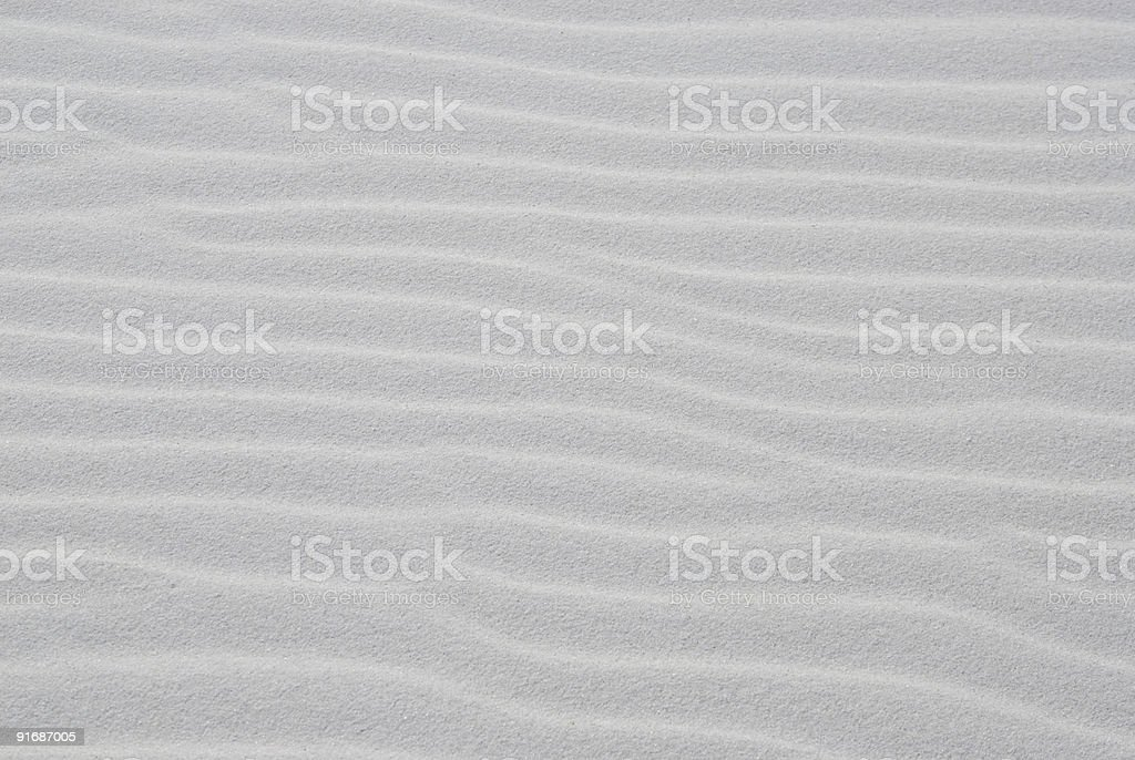 White Sand Dune with Wind-Generated  Ripples stock photo