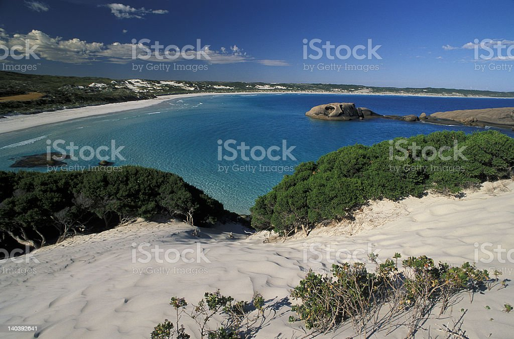 white Sand dunes and beach royalty-free stock photo