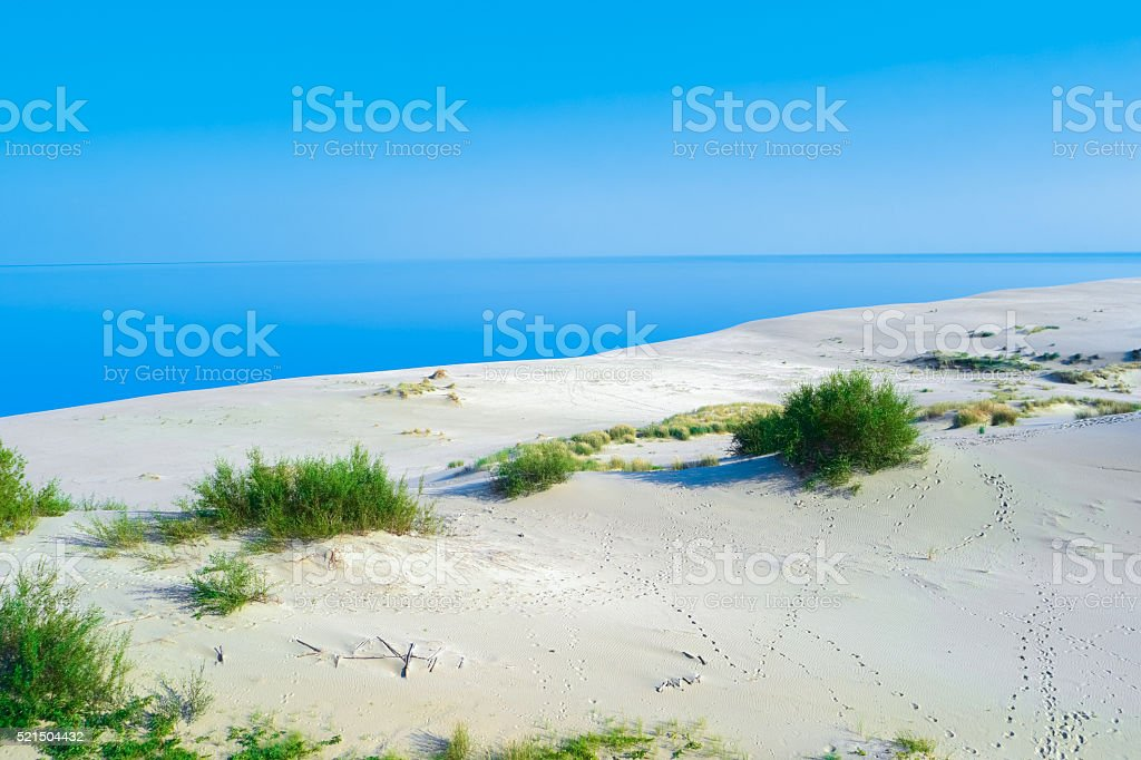 White Sand Dunes stock photo