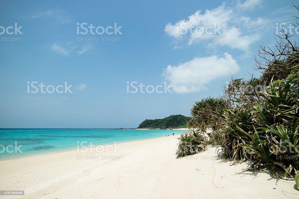 """Weiße Sandstrände, tropischer Strand und coral reef """"paradise Lagune Lizenzfreies stock-foto"""