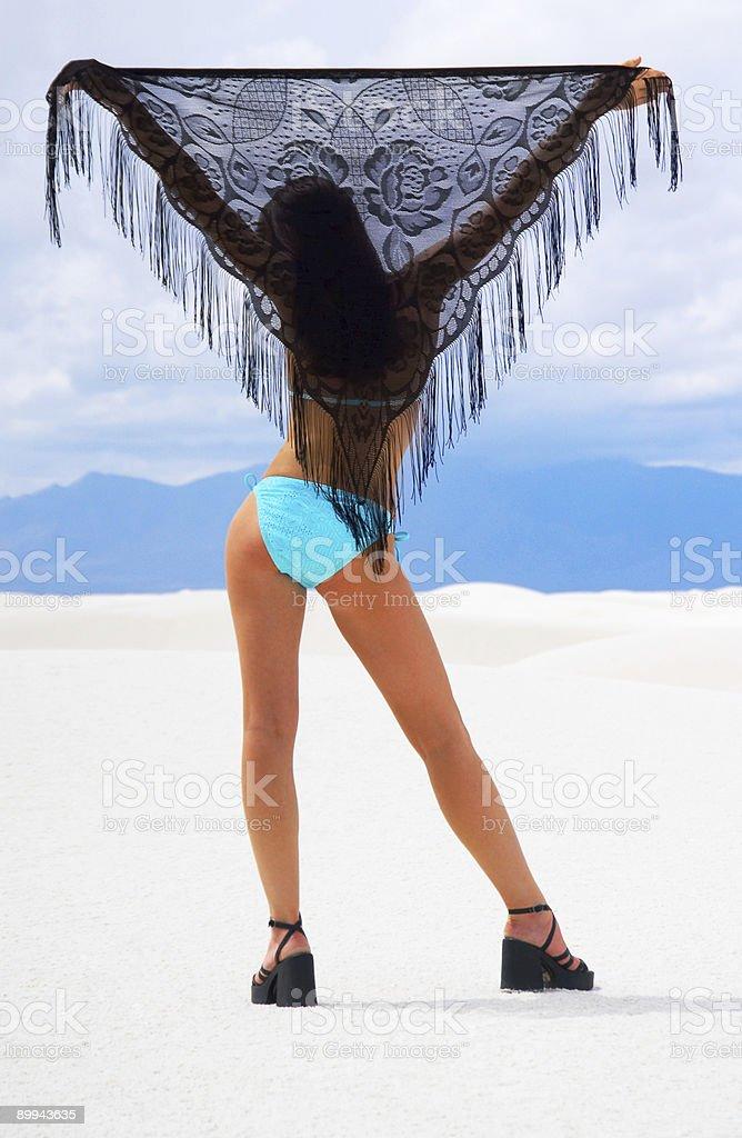 White Sands and Blue Bikini stock photo