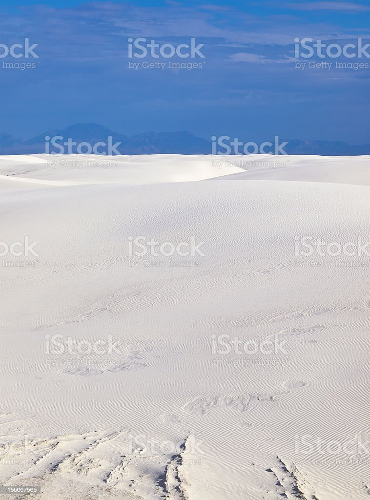 White sands background stock photo