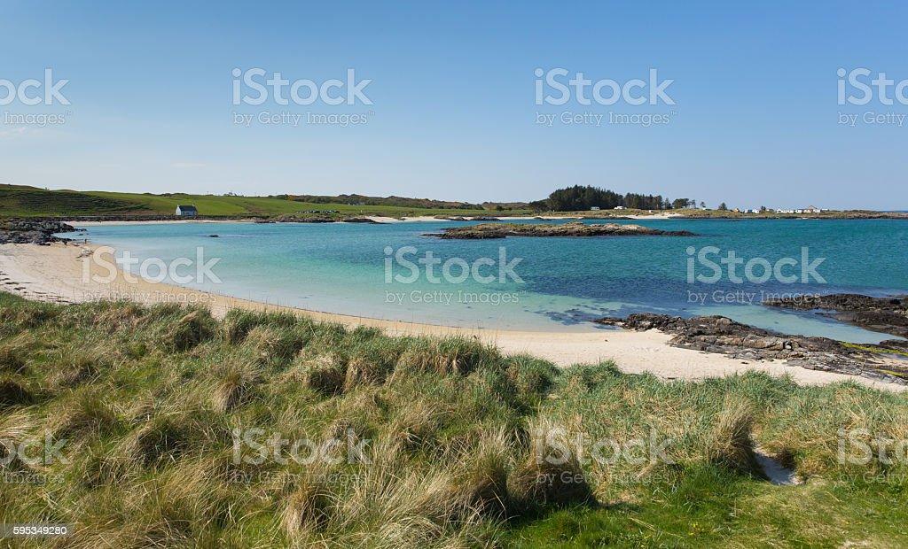 White Sands beach Portnaluchaig north of Arisaig west Scotland uk stock photo