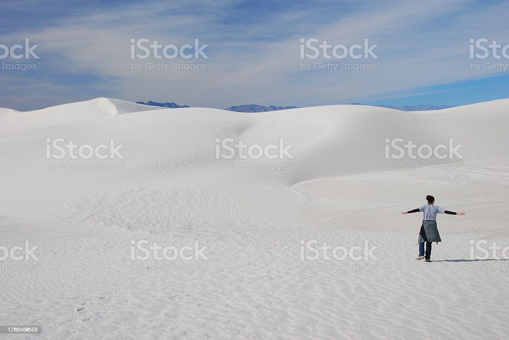 White Sands Dancing stock photo