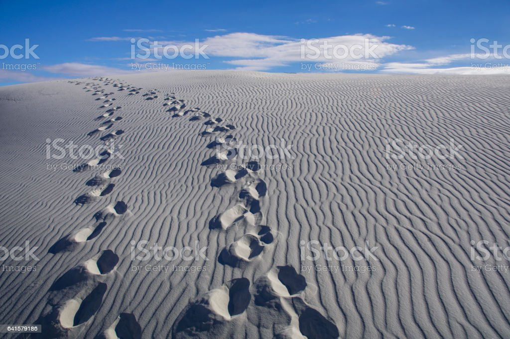 White Sands National Monument in New Mexico stock photo