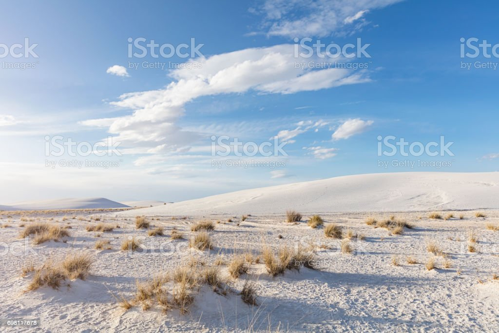 White Sands National Monument New Mexico stock photo
