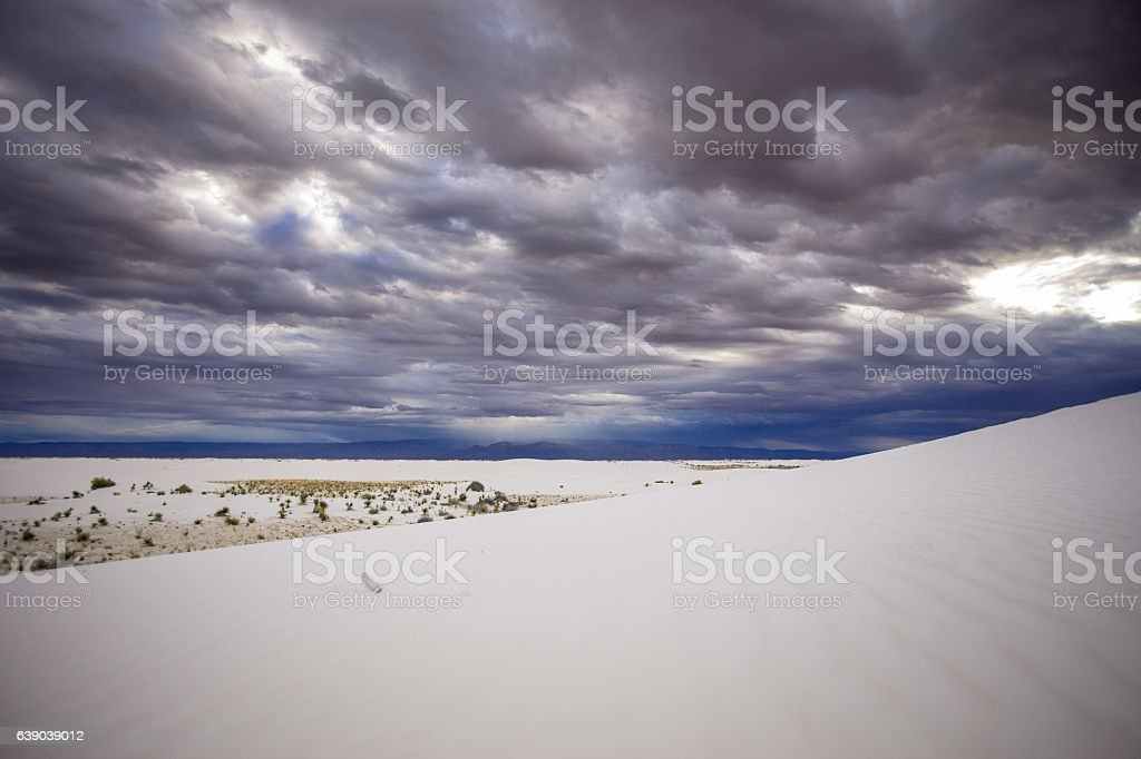 White Sands National Monument View stock photo