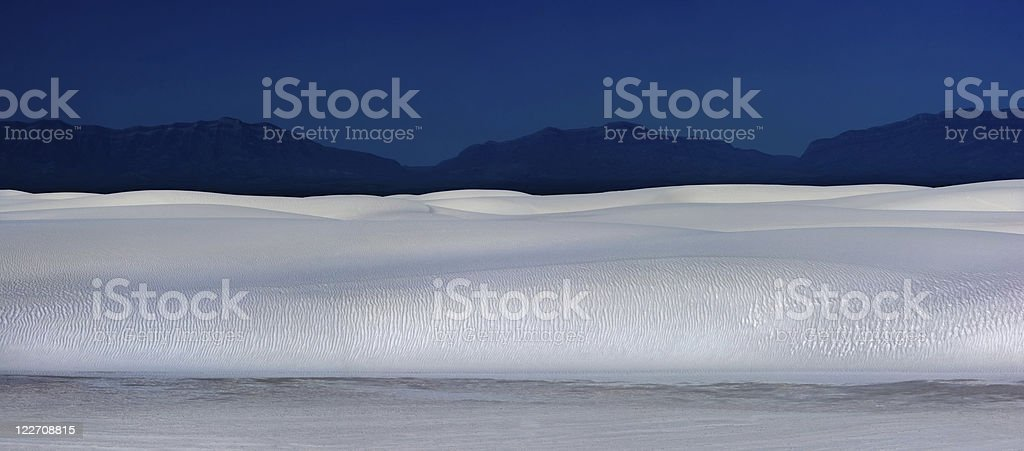 White Sands National Park at night stock photo