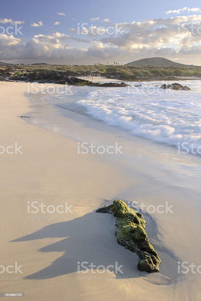 White sands of Kohala stock photo