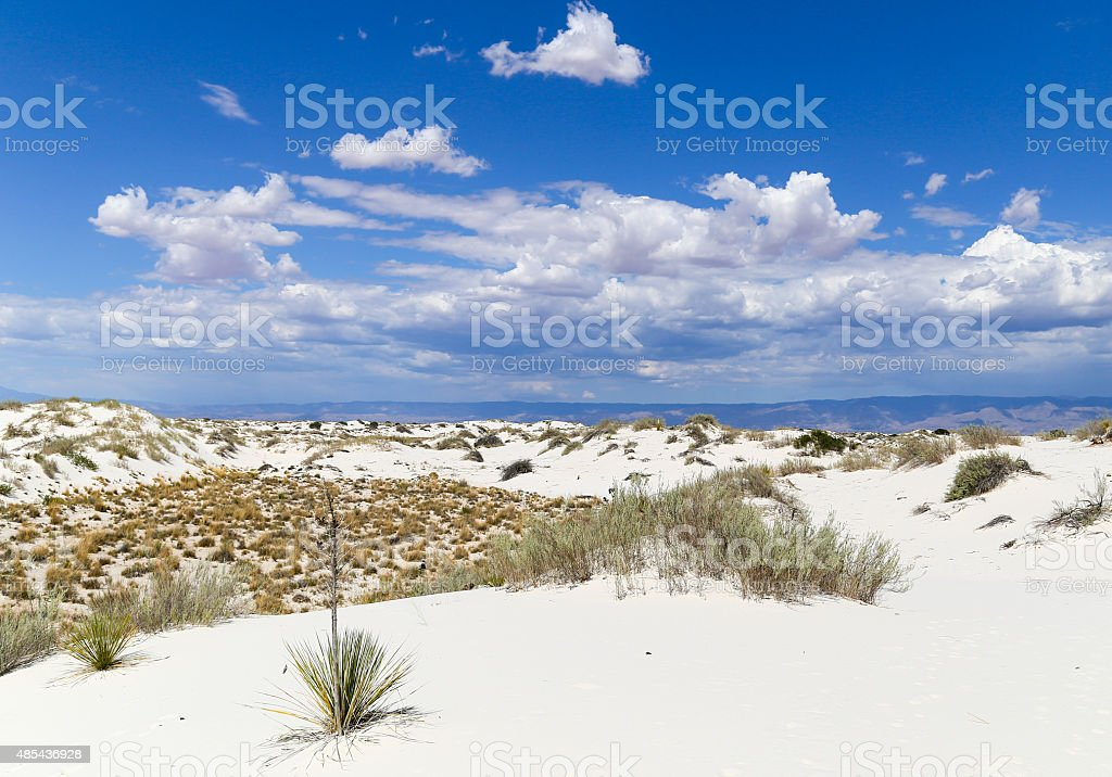 White Sands scenic view stock photo
