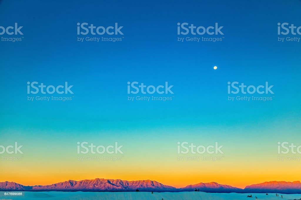 White Sands Sunrise stock photo