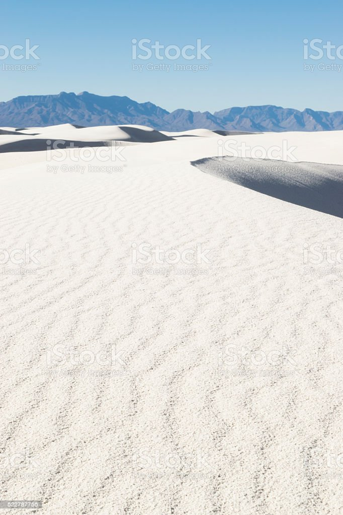 white sands vertical stock photo