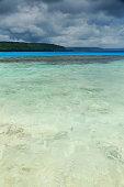 White sands-blue green water-Champagne beach. Espiritu Santo island-Vanuatu. 7358