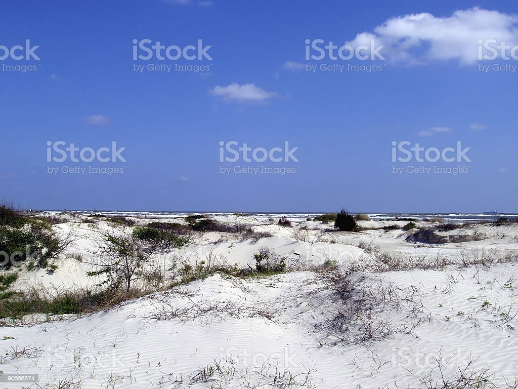 White Sandy Beach & Blue Sky - Florida stock photo