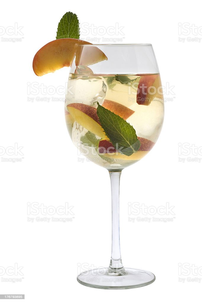 White Sangria in a glass stock photo
