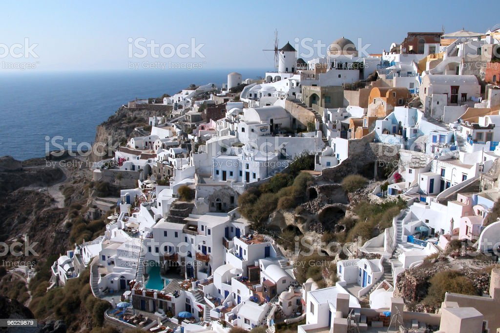 White Santorini houses royalty-free stock photo