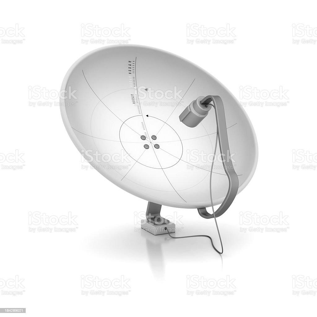 White satellite dish receivers stock photo