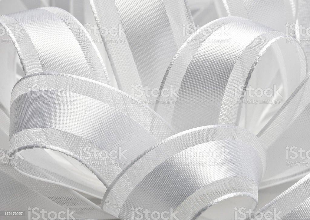 White Satin Bow Background royalty-free stock photo
