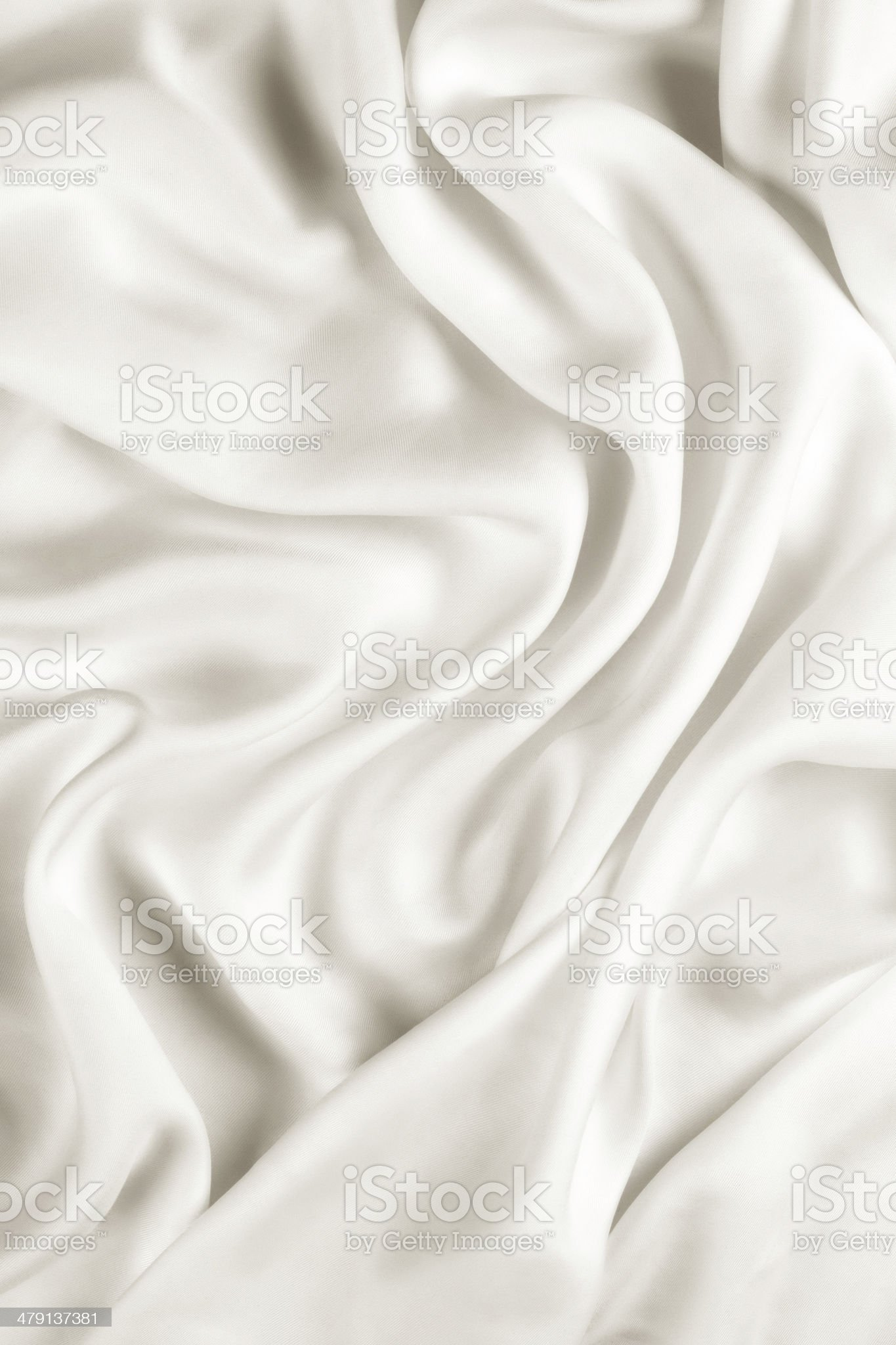 White Satin Material royalty-free stock photo