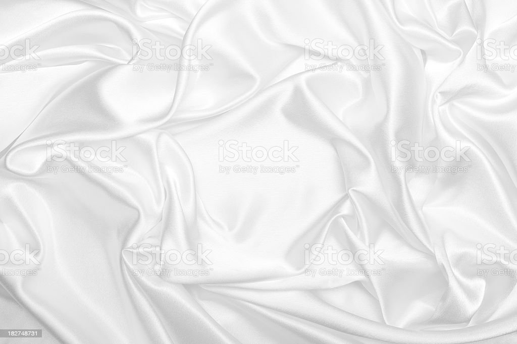 White satin silk wrinkled background stock photo