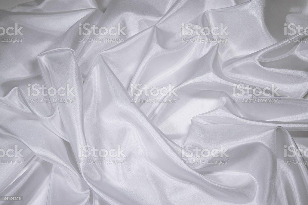 White Satin/Silk Fabric 1 royalty-free stock photo