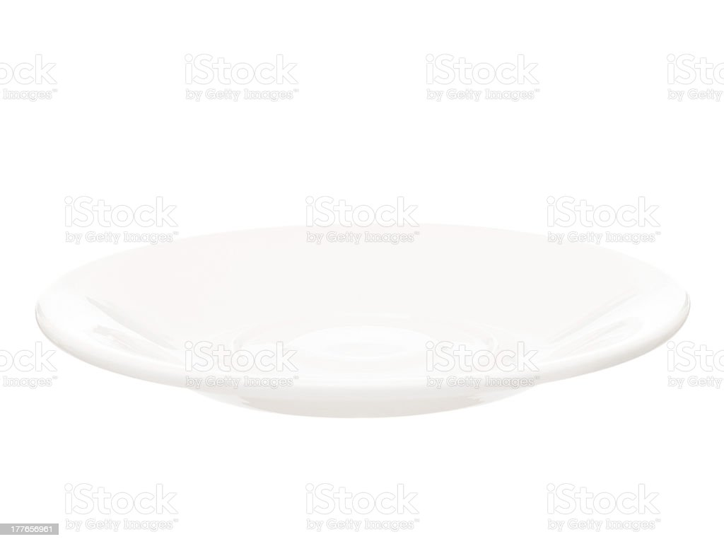 White saucer royalty-free stock photo