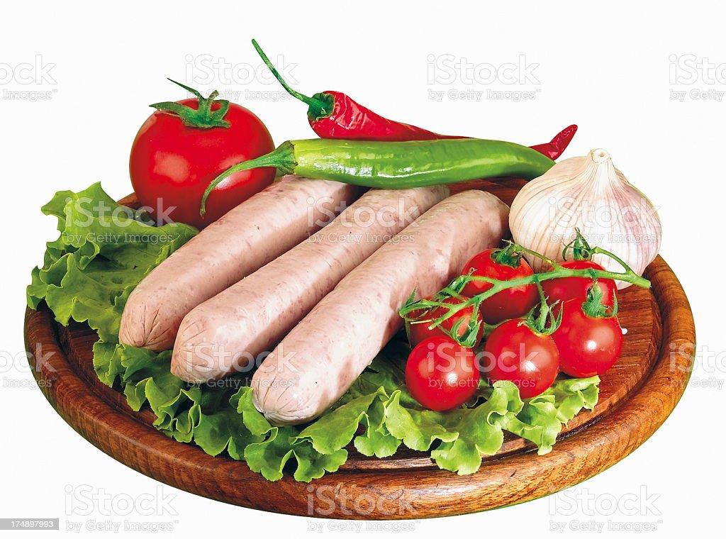 White sausages royalty-free stock photo