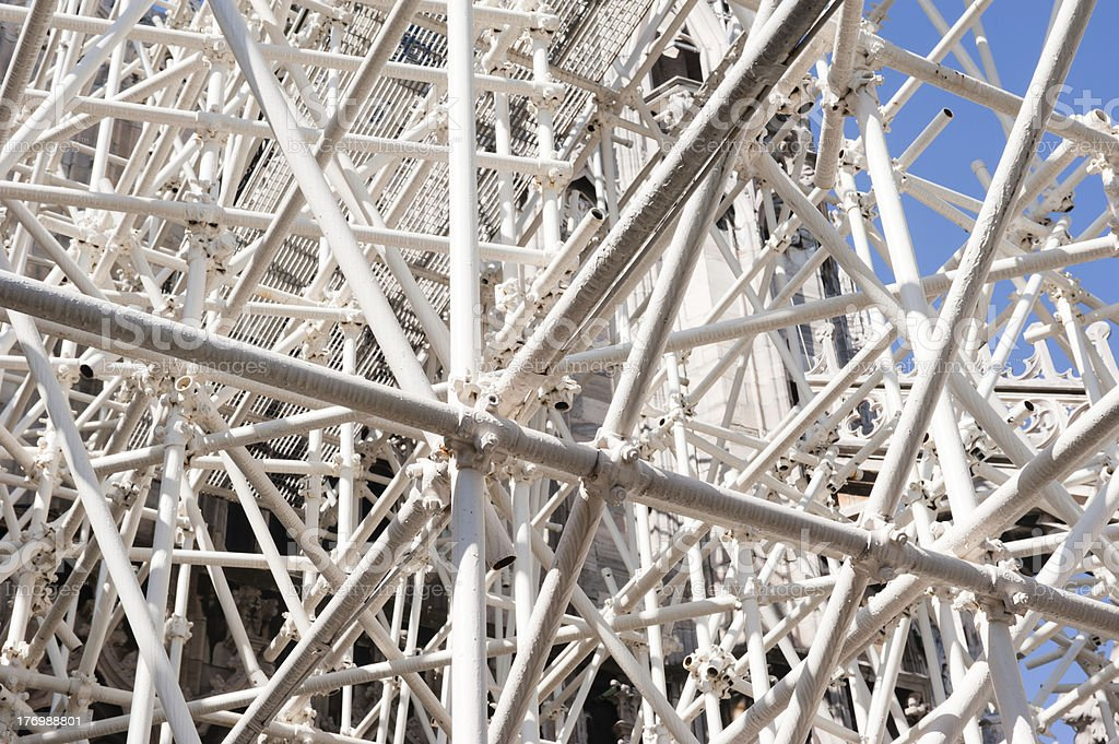 White scaffolding royalty-free stock photo