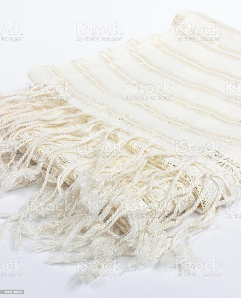 white scarf royalty-free stock photo