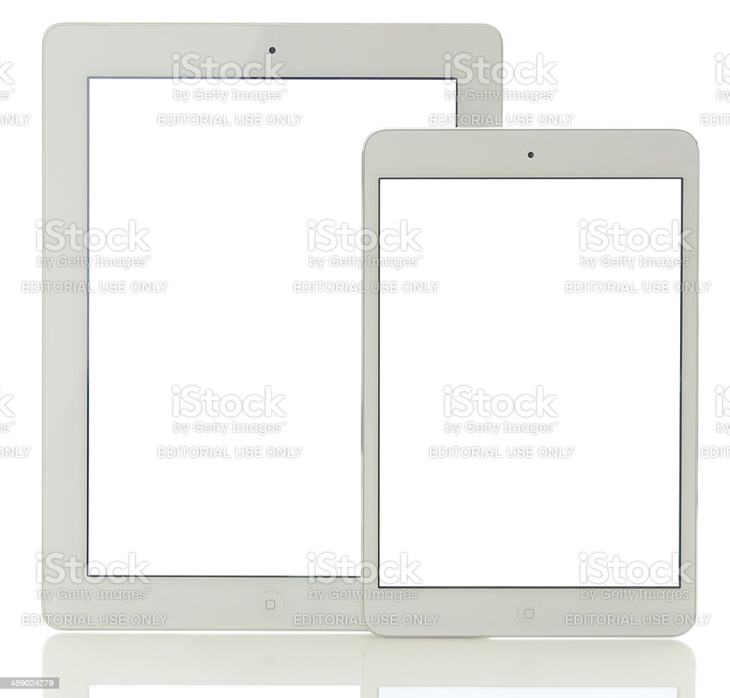White screen iPad Mini and iPad3 royalty-free stock photo