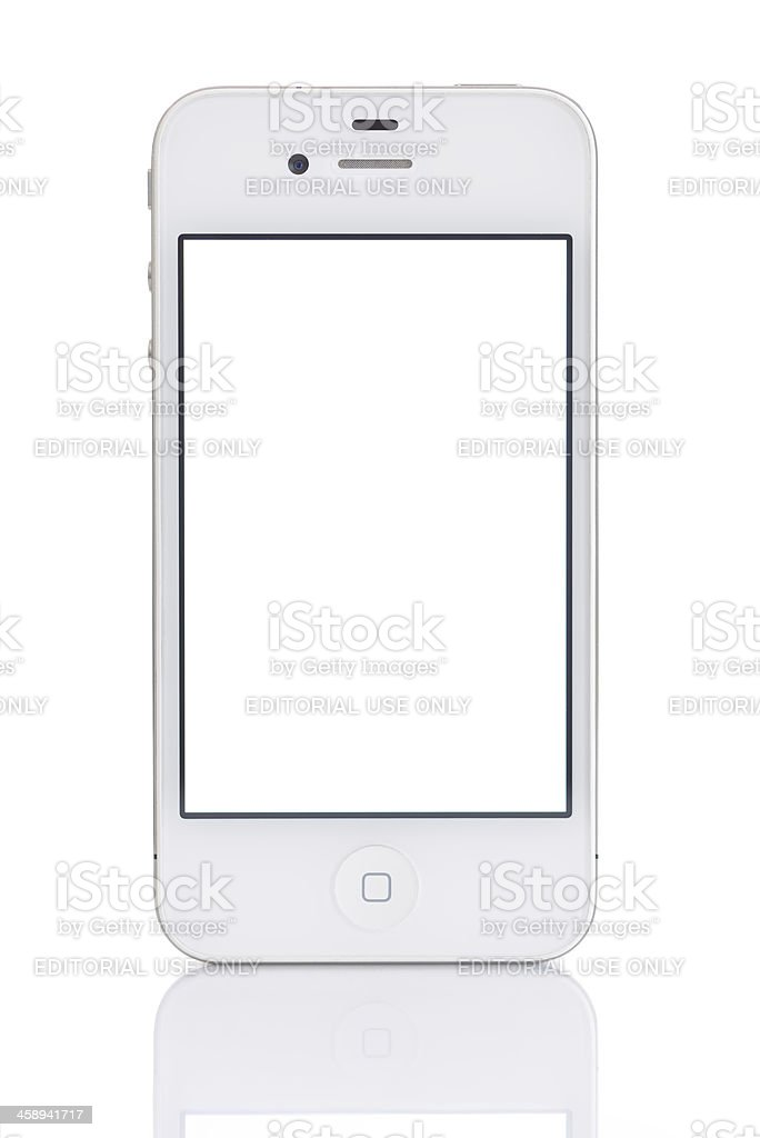 White screen iPhone 4 royalty-free stock photo