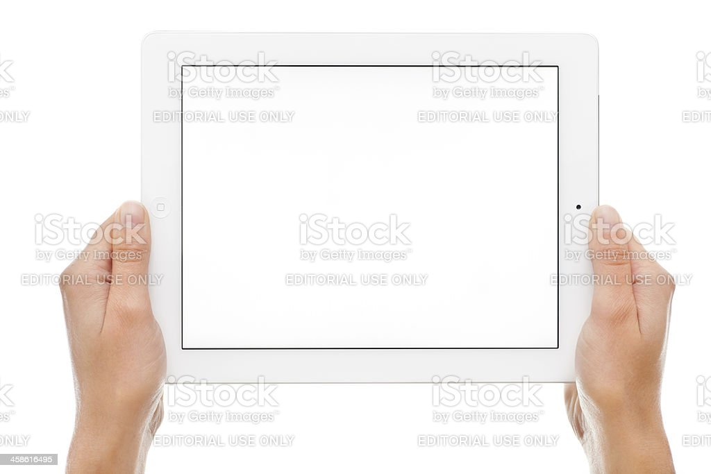 White Screen on Apple iPad royalty-free stock photo