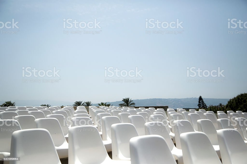 White Seats stock photo