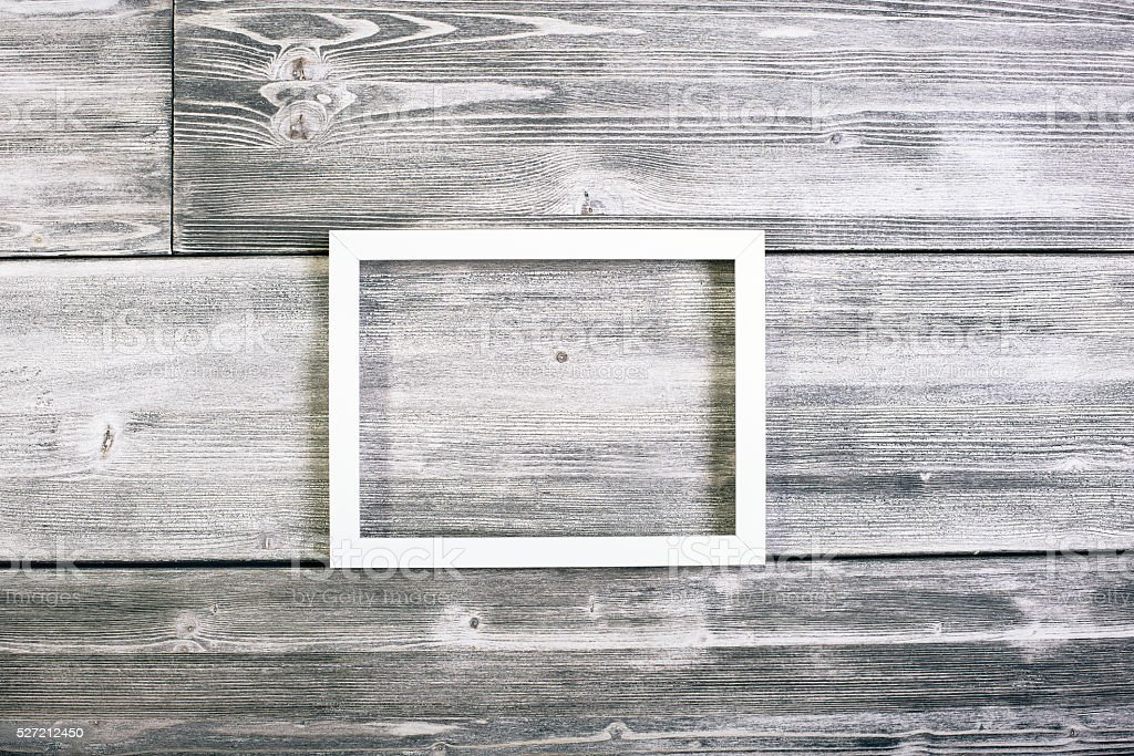 White see-through picture frame stock photo