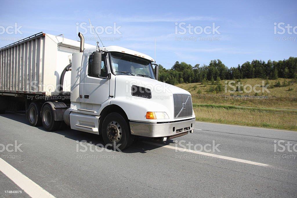 White Semi-truck royalty-free stock photo