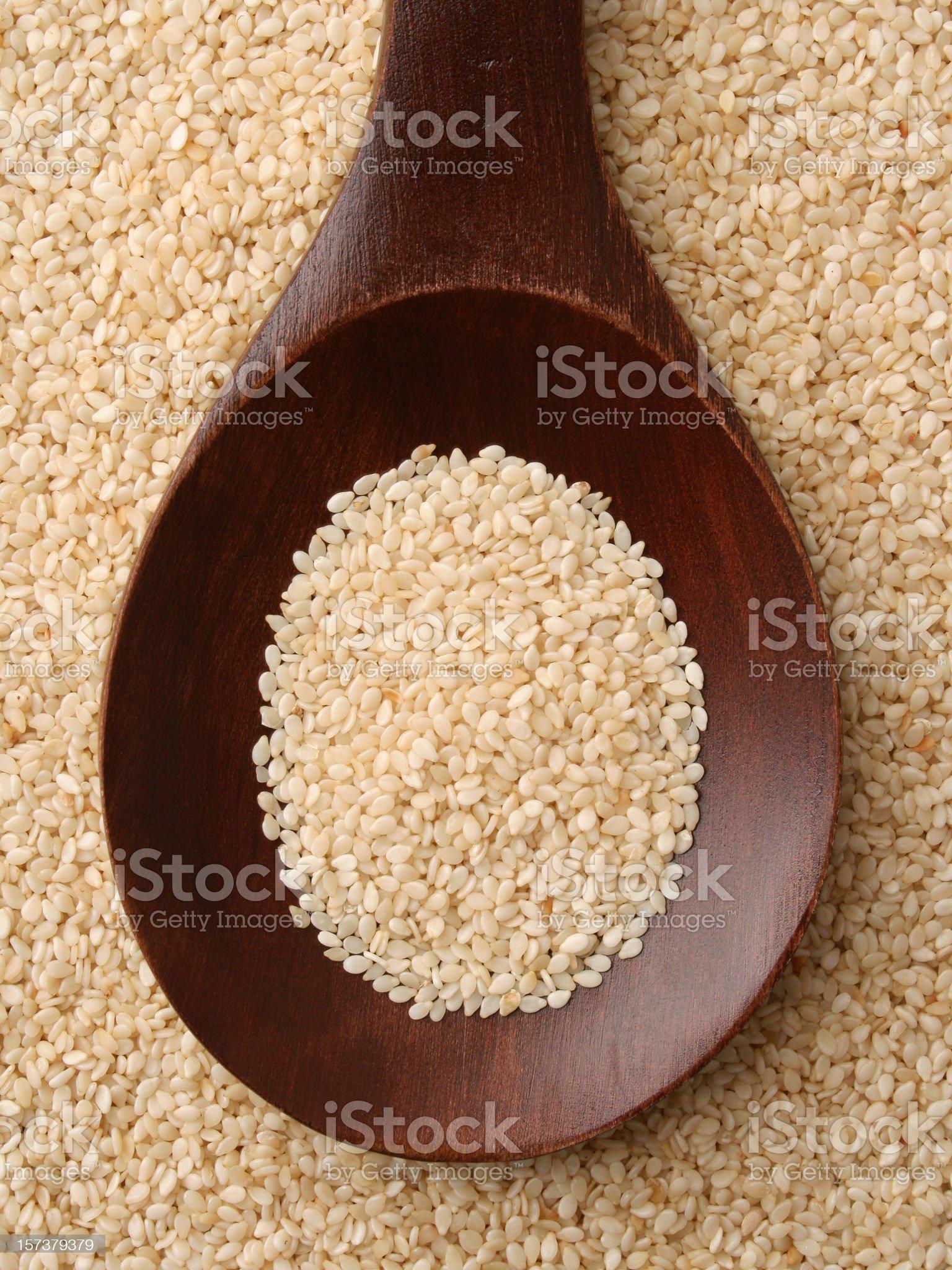 White sesame seeds royalty-free stock photo