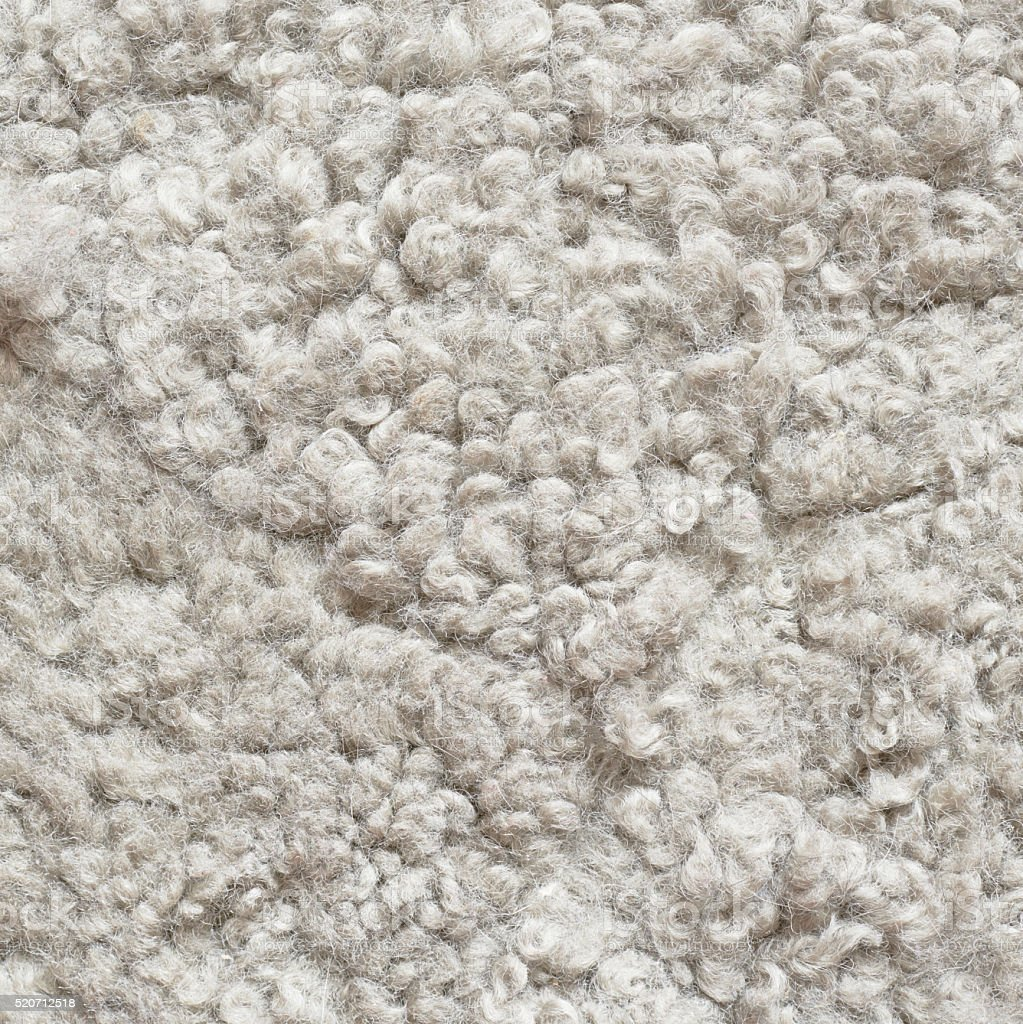 White shaggy carpet stock photo