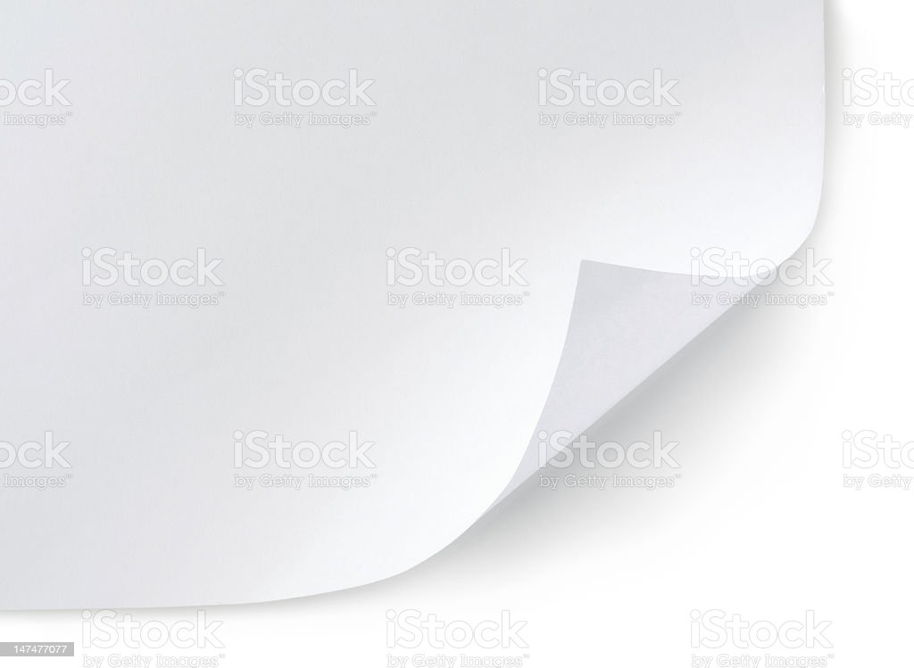 White sheet of paper stock photo