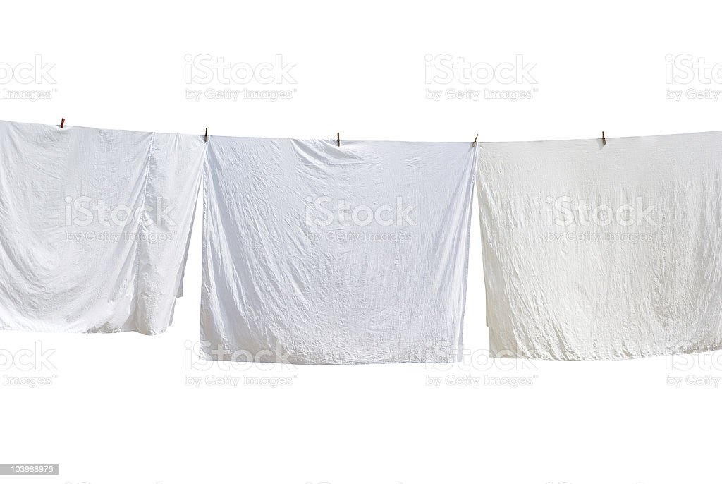White sheet. stock photo