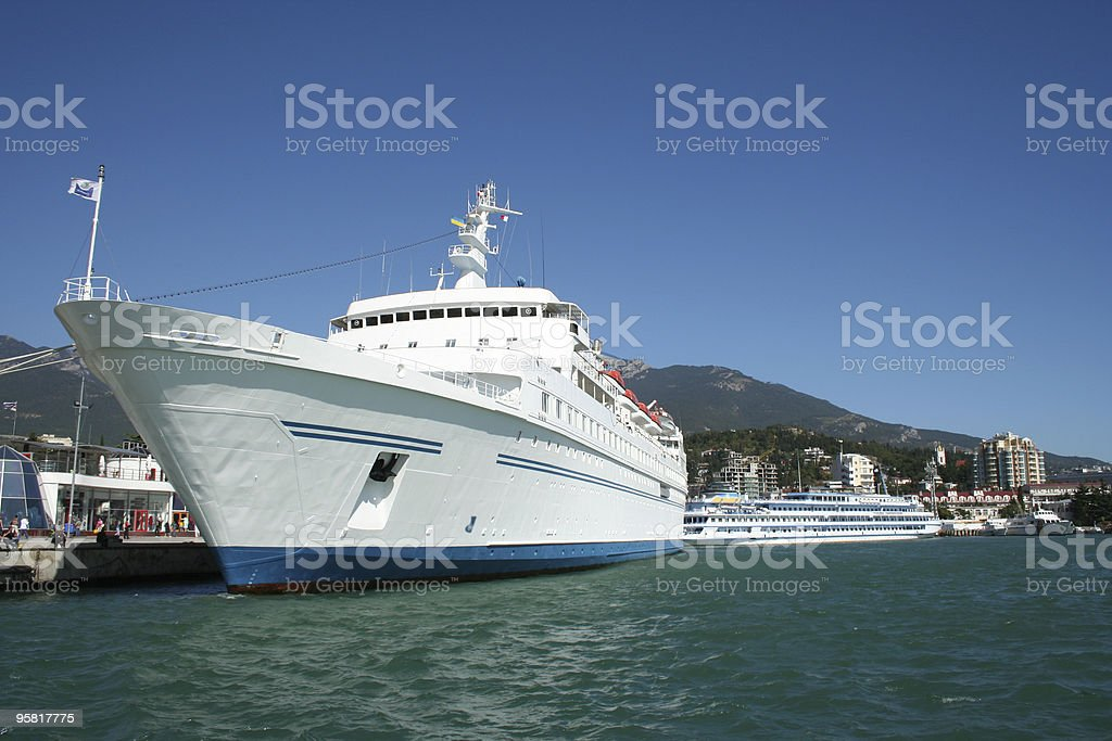white ship royalty-free stock photo