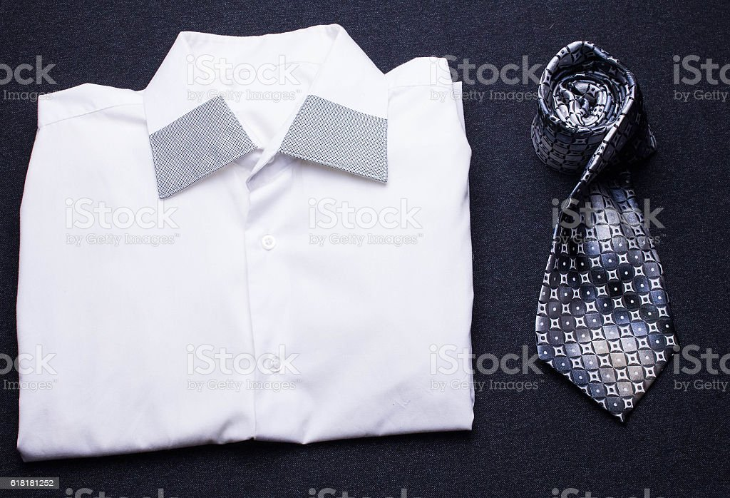 white shirt and men tie stock photo