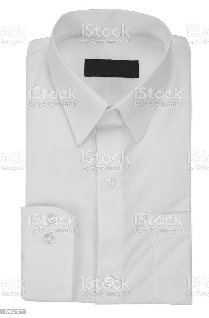 White shirt. Clipping path stock photo