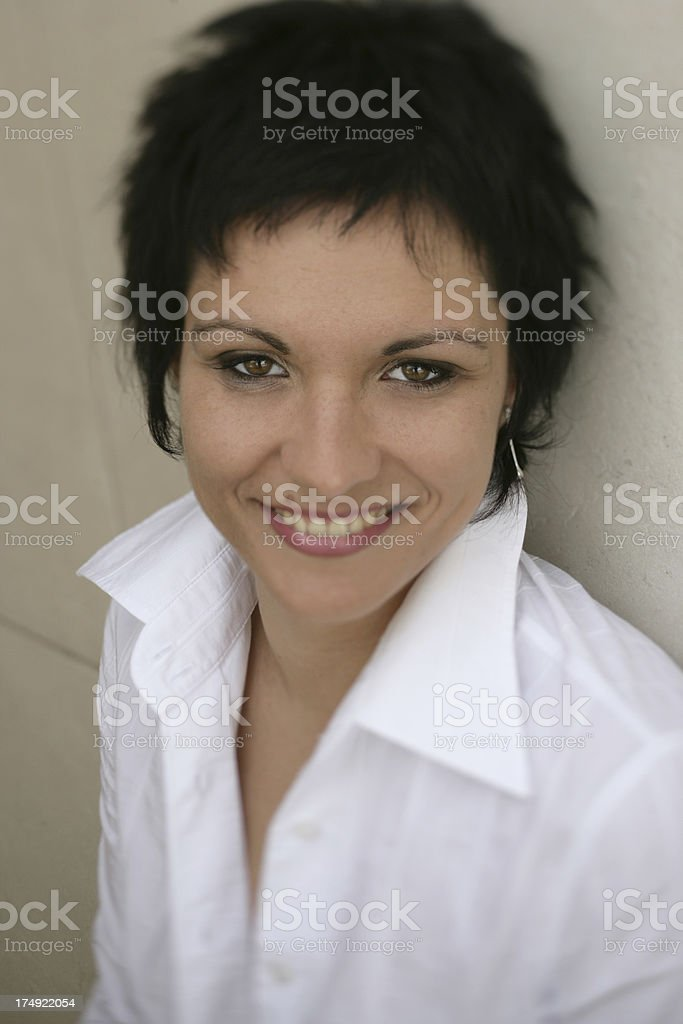 White shirt Portrait royalty-free stock photo