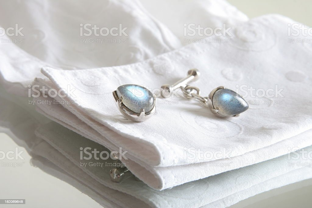 white shirt  with cufflinks royalty-free stock photo