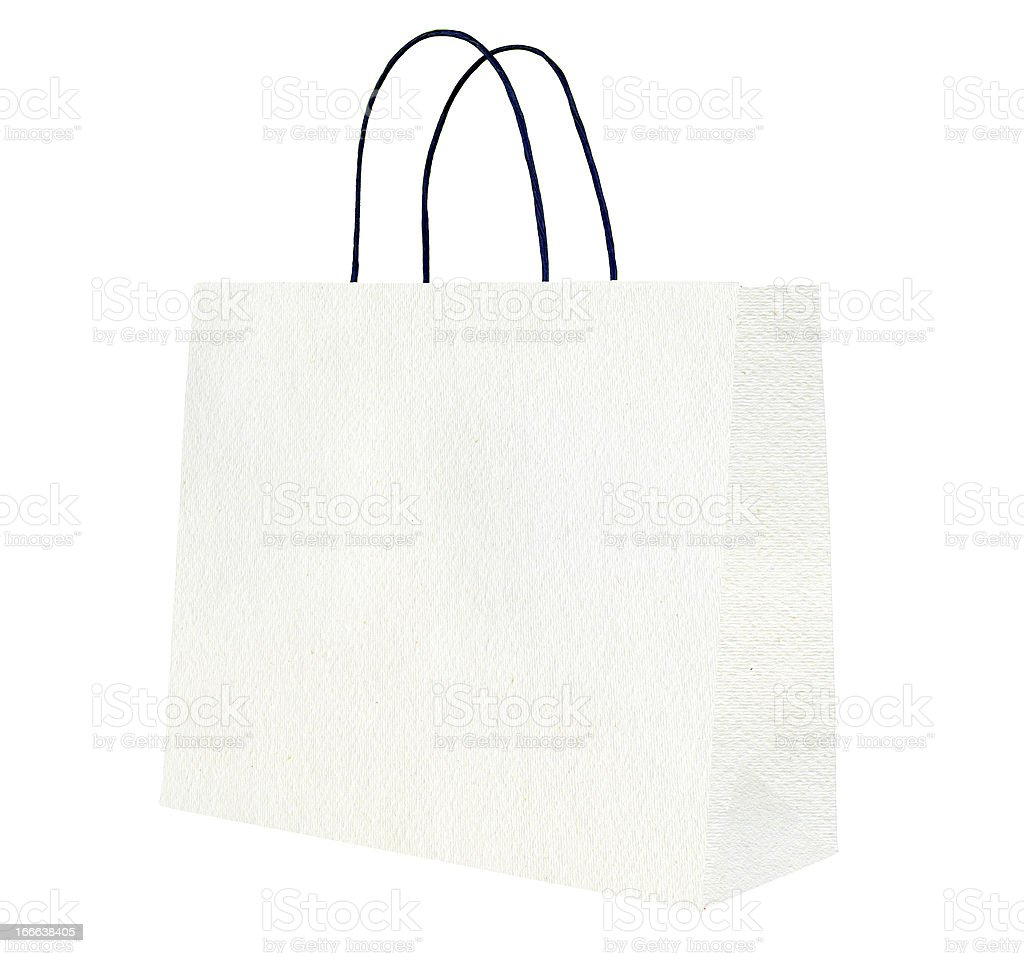 White shopping bag. royalty-free stock photo