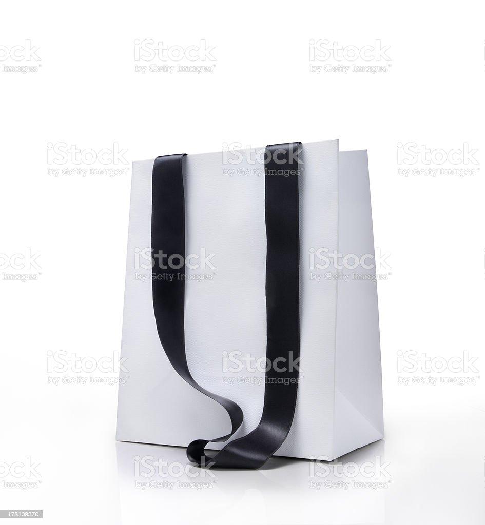 White shopping bag royalty-free stock photo