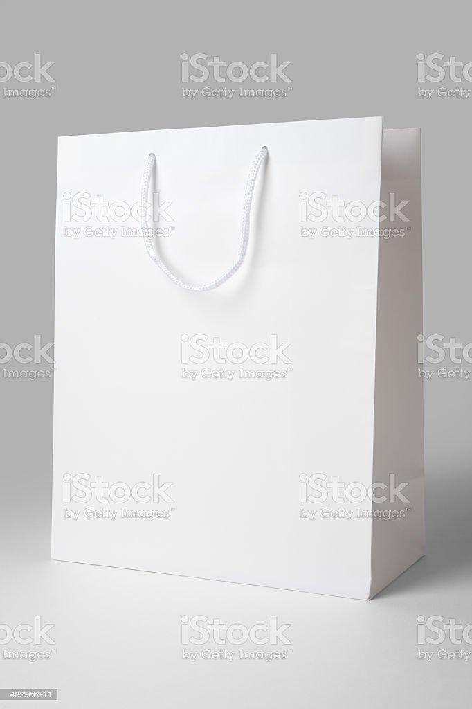 White Shopping Bag stock photo