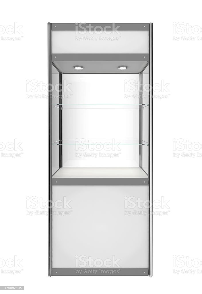 white showcase stock photo
